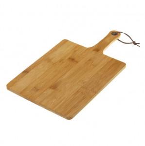 Tocator dreptunghiular maro din lemn de bambus 25x45 cm Adib Leo Unimasa