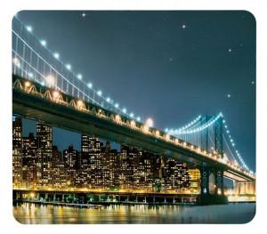 Tocator dreptunghiular multicolor din sticla 50x56 Universal Brooklyn Bridge Single Wenko