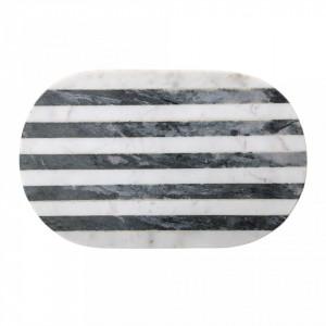 Tocator gri din marmura 37x23 cm Bloomingville