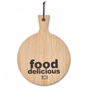 Tocator rotund maro din lemn 30x40 cm Delicious Food Zeller