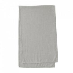 Traversa masa gri din textil 50x160 cm Samay Kave Home