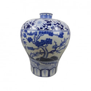 Vaza alba/albastra din portelan 48 cm Dynasty Van Roon Living