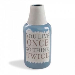 Vaza albastra din ceramica 33,5 cm Bakti La Forma