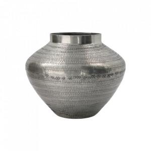 Vaza argintie din aluminiu 18 cm Arti House Doctor