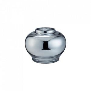Vaza argintie din sticla 17 cm Mingei Small Bolia