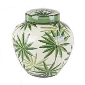 Vaza cu capac multicolora din portelan 24 cm Tropic Bizzotto