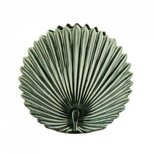 Vaza decorativa verde din ceramica 24 cm Pavone Madam Stoltz