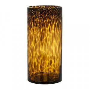 Vaza din sticla portocalie 25 cm Amber Bloomingville