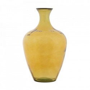 Vaza galbena din sticla 65 cm Barcelona Mauro Ferretti