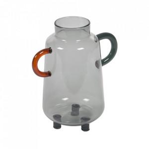 Vaza gri din sticla 18 cm Kei Kave Home