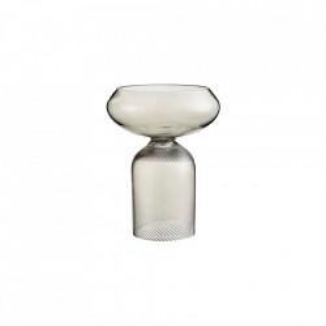 Vaza gri din sticla 23,4 cm Flip Bowl Bolia