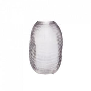Vaza gri din sticla 30 cm Tony Smoked Hubsch