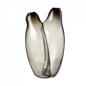 Vaza gri fum din sticla 34 cm Hug Bolia