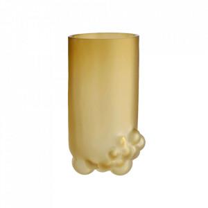 Vaza maro chihlimbar din sticla 21 cm Bulk Bolia