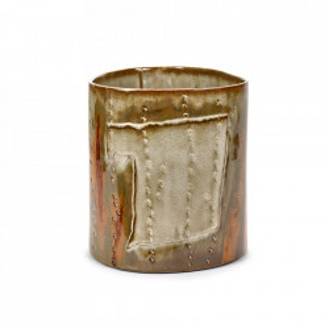 Vaza maro/verde din ceramica 25,2 cm Forest Serax