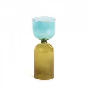 Vaza multicolor din sticla 20 cm Dibe La Forma