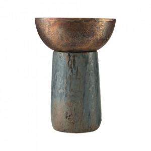 Vaza multicolora din ceramica si metal 24 cm Kombi House Doctor