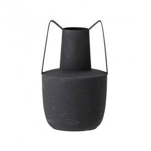 Vaza neagra din fier 21 cm Marilyn Bloomingville