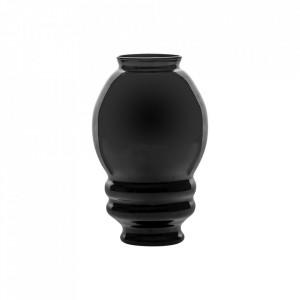 Vaza neagra din sticla 30 cm Wyatt Vical Home