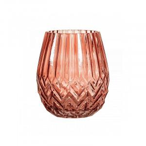 Vaza rosie din sticla 17 cm Spike Bloomingville