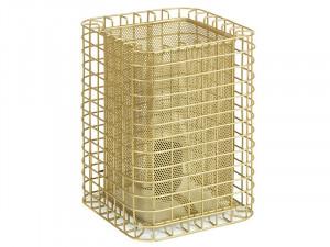 Veioza aurie din aluminiu 24 cm Cage Santiago Pons