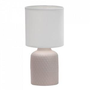 Veioza bej din PVC si ceramica 32 cm Iner Candellux
