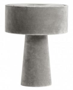 Veioza gri din catifea si fier 31 cm Mushroom Nordal