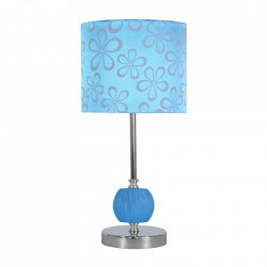 Veioza multicolora din PVC si otel 40 cm Cort Blue Candellux