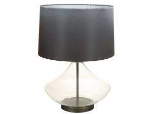 Veioza neagra din fier si sticla 53 cm Sega Santiago Pons