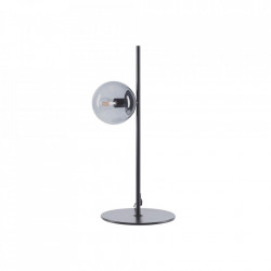 Veioza neagra din metal si sticla 57,2 cm Orb Table Black Bolia