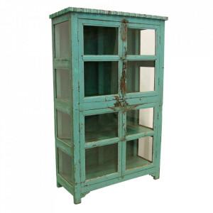 Vitrina verde din lemn si sticla 189 cm Johahn Raw Materials