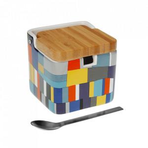 Zaharnita multicolora din ceramica si lemn Etna Versa Home