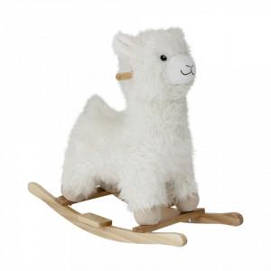 Balansoar copii alb din lemn si poliester Llama Bloomingville