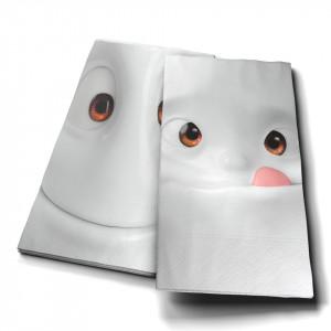Set 16 servetele gri 33x33 cm Face Pastrami Tassen