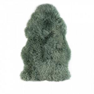 Blana naturala verde 94x50 cm Shirley Evergreen White Label