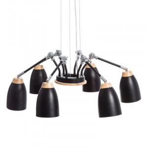 Candelabru negru cu 6 becuri Spider Ixia