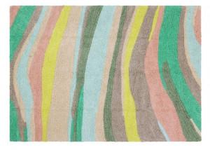 Covor dreptunghiular multicolor din bumbac 140x200 cm Happy Hills Lorena Canals