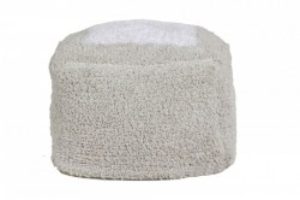 Puf patrat gri din bumbac pentru copii 18x39 cm Marshmallow Pearl Grey Lorena Canals