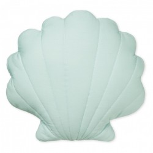 Perna decorativa albastru breeze pentru copii din bumbac organic 34x38 cm Sea Shell Breeze Cam Cam