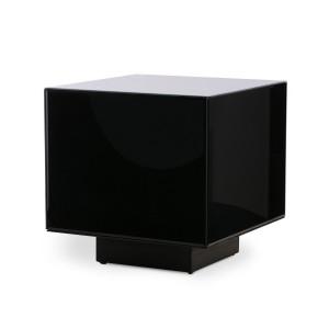 Masuta neagra din lemn si MDF 40 cm Block Mirror M HK Living