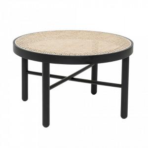 Masuta neagra/crem din lemn pentru cafea Luna Bloomingville