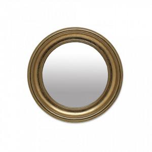 Oglinda rotunda aurie din polirasina 24 cm Goldie Objet Paris