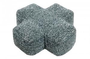 Perna patrata gri din bumbac pentru podea 50x50 cm Plus Grey Lorena Canals