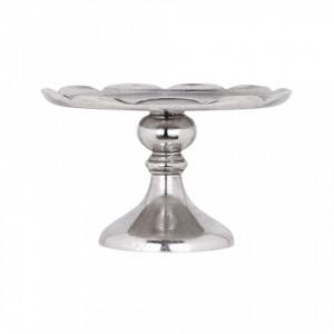 Platou cu picior din aluminiu 28,5 cm June Silver Richmond Interiors