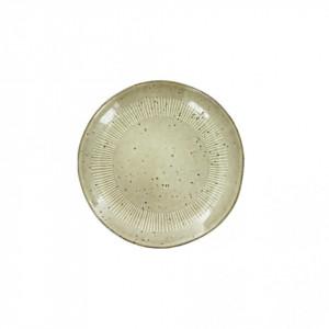 Farfurie bej din ceramica pentru desert 22 cm Enzo Sand LifeStyle Home Collection