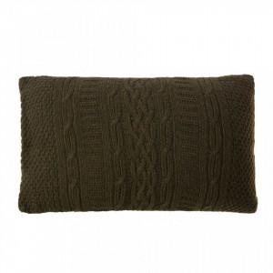 Perna decorativa dreptunghiulara kaki din textil 30x50 cm Twisted Zago