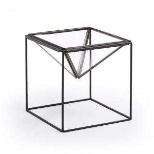 Ghiveci negru din metal 16 cm Terrarium La Forma