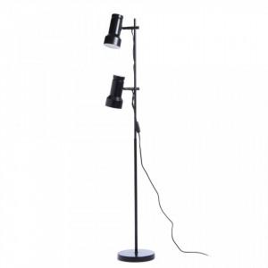 Lampadar negru din metal cu 2 becuri 140 cm Klassik Frandsen Lighting