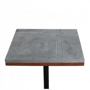 Blat gri din lemn si zinc 70x70 cm Factory Market Zinc Raw Materials