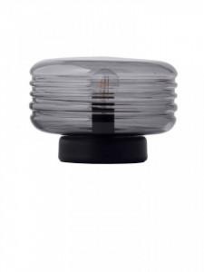 Veioza gri din metal si sticla 26 cm Wheels Frandsen Lighting